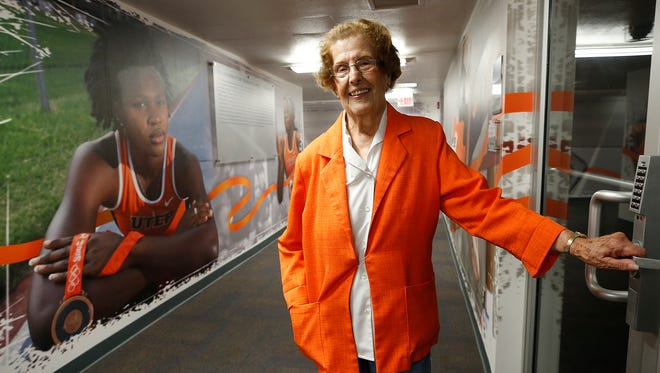 """Kate Jensen 98, and still going strong after 31 years as the UTEP Track Office secretary, has decided that she needs to find something else to do and """"give a younger person a chance to be around all these young athletes and someone that they can relate to,"""" Jensen said. Jensen also spent 30 years working for State National Bank now known as Wells Fargo Bank."""