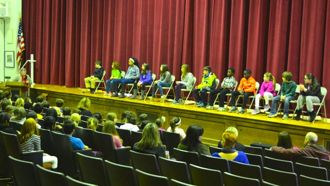 Fourth- and fifth-graders at Rehoboth Elementary School took part in the school's annual spelling bee Monday, Feb. 8.