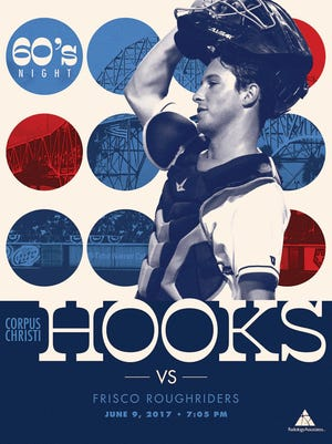 The Corpus Christi Hooks take on the Frisco RoughRiders at 7:05 p.m. Friday, June 9, at Whataburger Field, 734 E. Port Ave. Featuring this '60s promotional poster giveaway courtesy of Radiology Associates. Fans are encouraged to dress in any '60s styles from their closet. Cost: Tickets begin at $6. Information: cchooks.com, 361-561-4665.