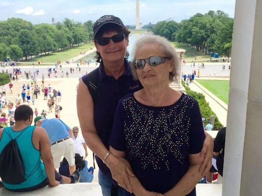 In 2016, Britt Kennerly, pictured with her mother, Helen, granted her mom's wish to go to Washington, D.C.