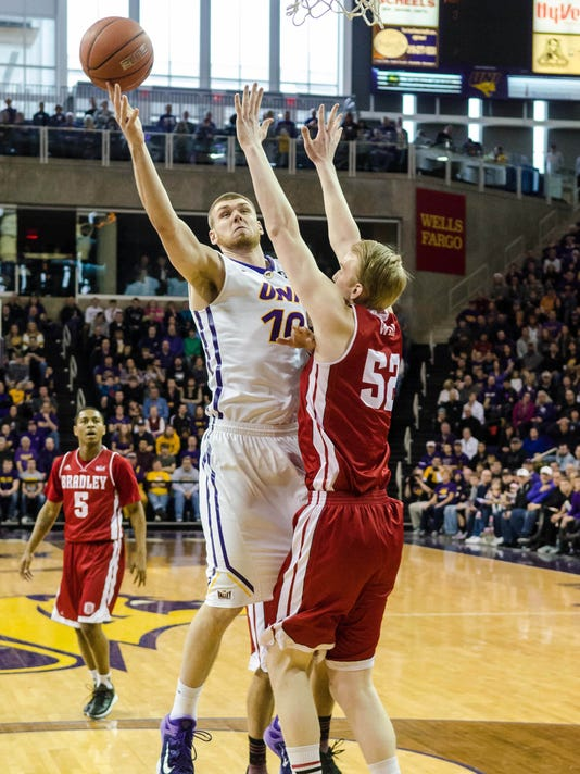 NCAA Basketball: Bradley at Northern Iowa