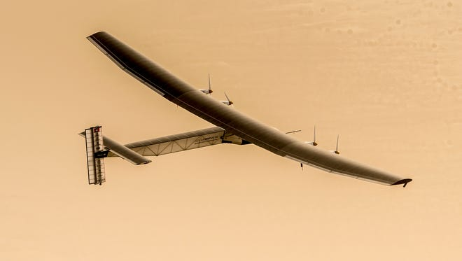 The Solar Impulse 2 is attempting an around-the-world flight. Its scheduled to land in Hawaii on Friday.