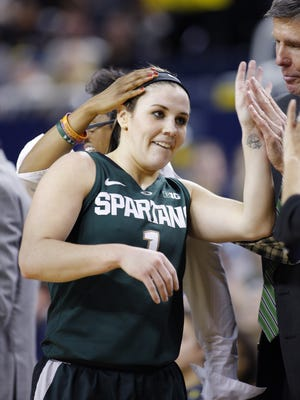 Tori Jankoska will play in her final regular season home game Wednesday when the Spartans host Penn State.