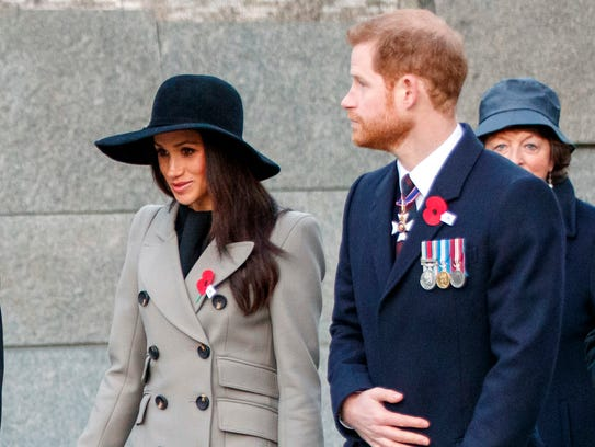 Prince Harry and Meghan Markle attend an Anzac Day