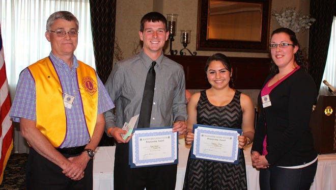 Hanover Lions presents scholarships