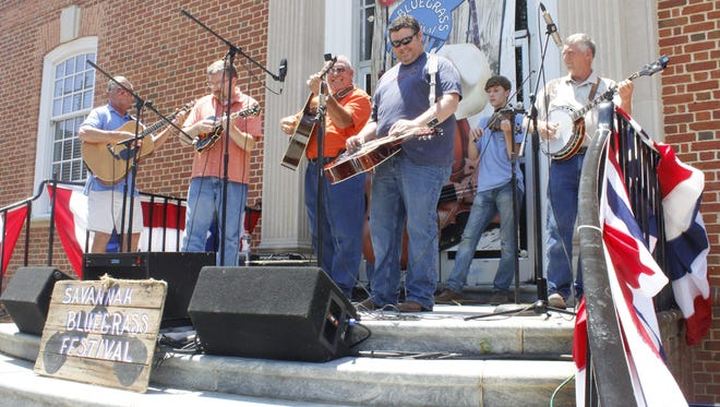 Rudy Moore & Bluegrass Pals were one of 18 bands that performed Friday and Saturday at the 38th annual Savannah Bluegrass Festival.