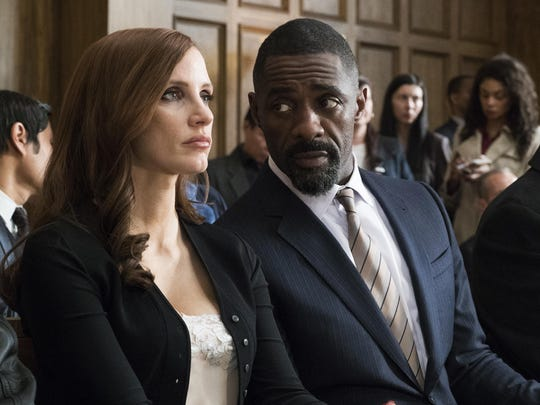 """Chastain and Idris Elba star in """"Molly's Game,"""" the"""