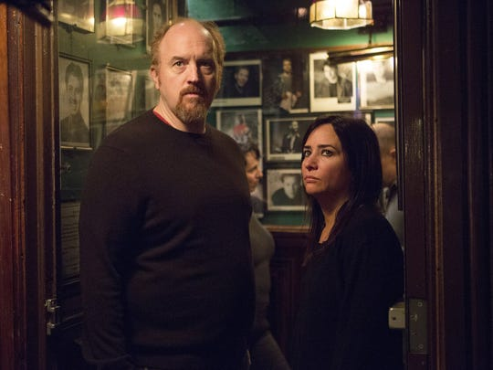 "Louis C.K. and Pamela Adlon in a scene from ""Louie."" The series returns at 10:30 p.m. Thursday on FX."