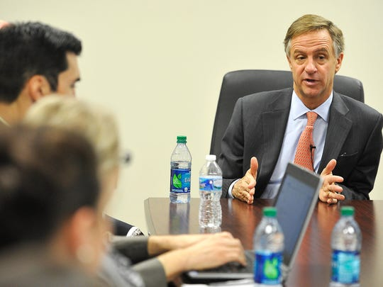 On Dec. 15, Gov. Bill Haslam announced Insure Tennessee to cover tens of thousands of uninsured people and he met with The Tennessean's editorial board to discuss the plan, which requires legislative approval.