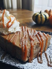 A pumpkin cheesecake square from Social 37 in Toms