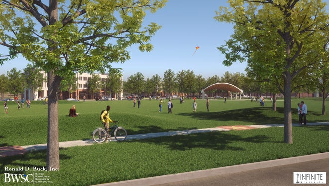 A rendering of the project envisioned for the former Starwood Amphitheatre property in Antioch