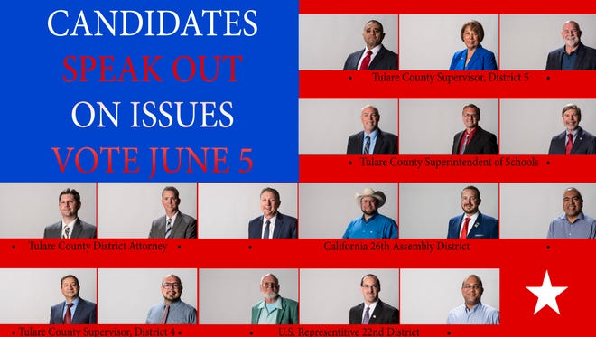 Candidates in Tulare County.