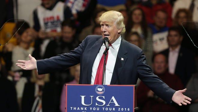 President-elect Donald Trump in Cincinnati on Dec. 1, 2016.