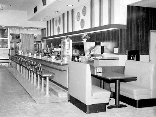 The lunch counter at Newberry's in Vineland is captured