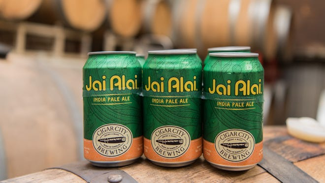Jai Alai IPA (7.5% alcohol by volume) is one of four beers from Cigar City Brewing Co. in Tampa, Fla. to be available in Michigan starting in April 2018.