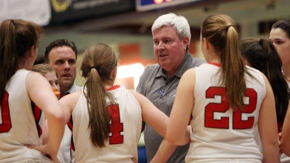 Rye girls basketball head coach Dennis Hurlie talks