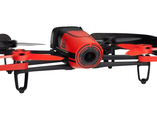 The colorful Bebop Drone from Parrot lets you capture video from the 1080p HD fish-eye camera with smooth image stabilization, first-person-view piloting via your smartphone and 14-megapixel stills.