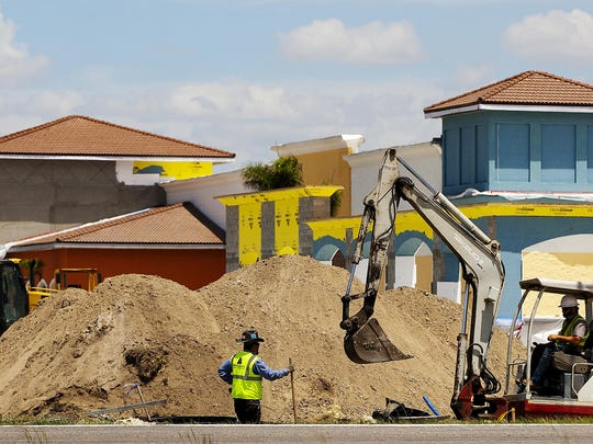Construction takes place in May on the Wal-Mart Supercenter in Estero. The store will open Wednesday, Aug. 26.