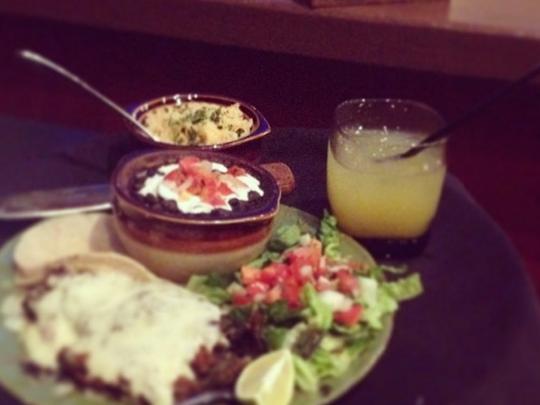 Leñero Mexican Grill's chili relleno Sunday dinner.
