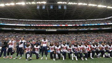Donald Trump was discussed during NFL owners' national-anthem meetings, per report