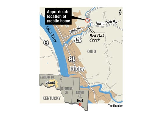 Ripley Ohio Map.As Creek Raged There Was Nothing They Could Do
