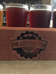 A flight of four beers from The Lost Borough Brewing