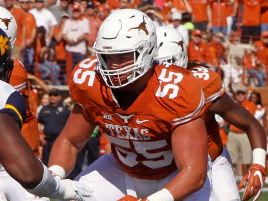 17. Chargers — Connor Williams, OT, Texas: Philip Rivers