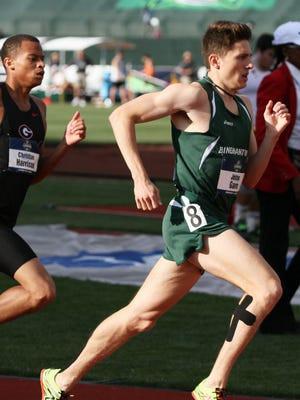 Jesse Garn competes in the 800 at the NCAA championship meet in Oregon.