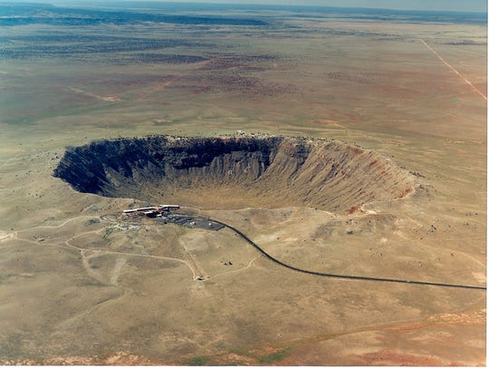 Meteor Crater is located about 35 miles east of Flagstaff,