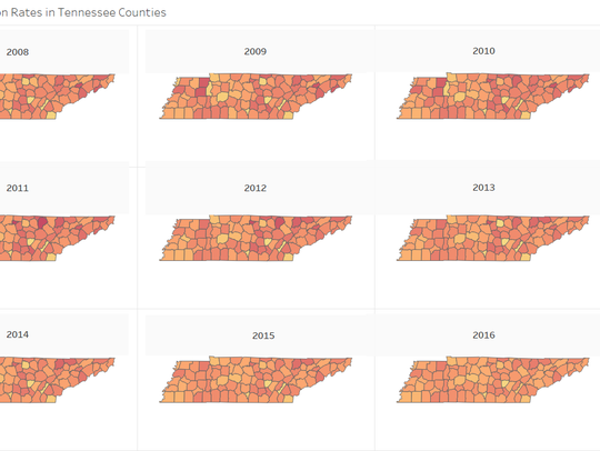 Opioid Prescriptions in Tennessee Counties