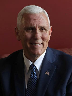 Vice President-elect Mike Pence on Capitol Hill November 17, 2016 in Washington, DC.