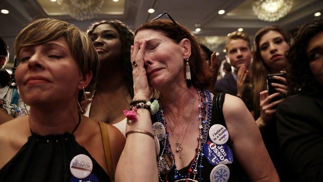 Jon Ossoff's supporters in Atlanta on June 20, 2017.