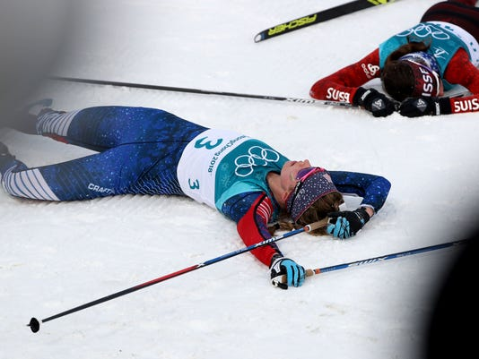 Olympics: Cross Country Skiing-Womens 2 x 7.5km Double Pursuit