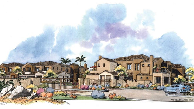 A rendering of the Carino Villas in Chandler.