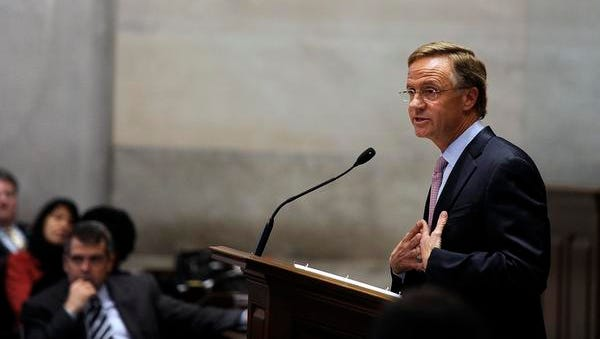Gov. Bill Haslam addresses the General Assembly in a special session Monday to kick off debate on his Insure Tennessee plan.