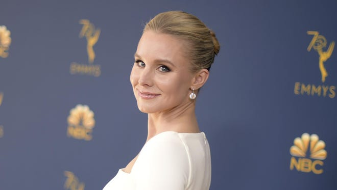 In this Sept. 17, 2018 file photo, Kristen Bell arrives at the 70th Primetime Emmy Awards in Los Angeles.