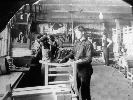 Workers ply their trade at Stickley's Fayetteville,