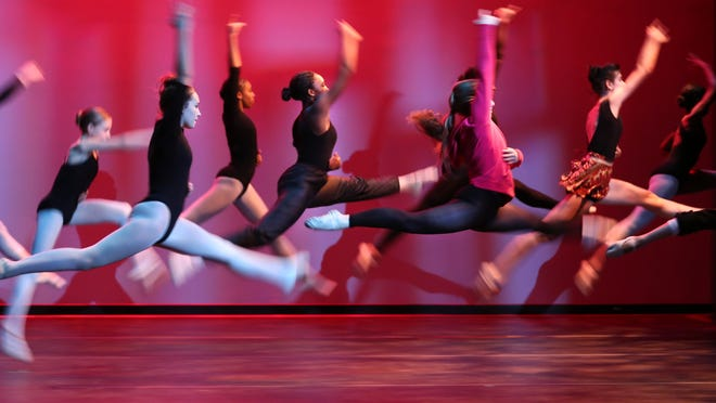 Dancers rehearse in the Mayerson Theatre at The School for Creative and Performing Arts. They were preparing for the upcoming production of 'Joseph & The Amazing Technicolor Dreamcoat'. The show is November 6-9 at the Corbett Theatre.