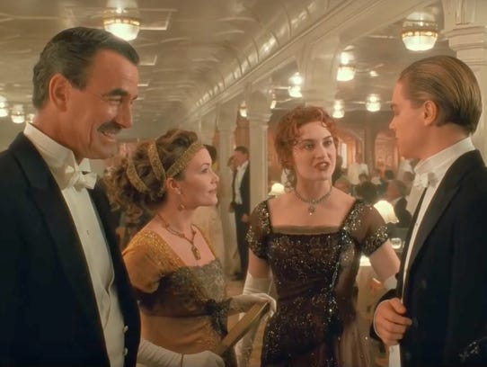 Eric Braeden left as John Jacob Astor in 'Titanic'---Twentieth