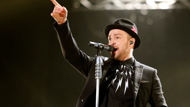Justin Timberlake performs during a concert at Morocco's annual Mawazine Music Festival, in Rabat, Morocco, Friday, May 30, 2014. (AP Photo /Abdeljalil Bounhar) ORG XMIT: RAB114