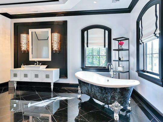 A master bathroom in Upper Saddle River designed by