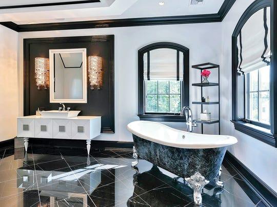 A master bathroom in Upper Saddle River designed by
