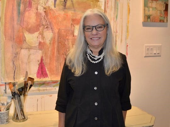 Diane Hanson describes her work as exploring contemporary fiber method, abstract expressionist painting techniques and assemblage formats.