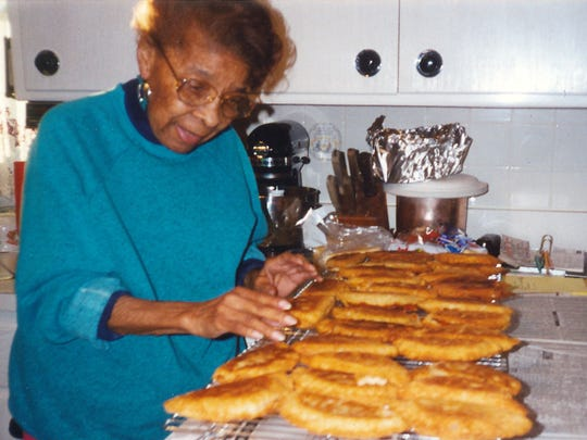 Leona M. Burdette was known for her peach hand pies; daughter Normajean Sims is hoping to master her mother's recipe.