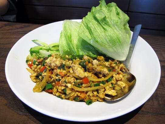 Thai chicken lettuce wraps at Pei Wei, 6821 Collier