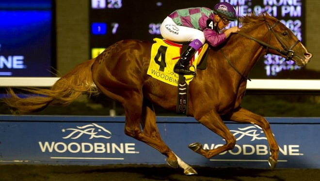 Amis Gizmo ran away with Wednesday night's Frost King Stakes at Woodbine.