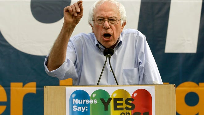 Former presidential candidate Sen. Bernie Sanders, of Vermont, spoke in support of drug price reform legislation the day before the elections, but Proposition 61 was voted down anyway.
