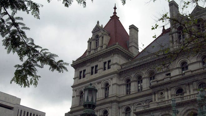The New York State Capitol in Albany, seen on June 18, 2003.