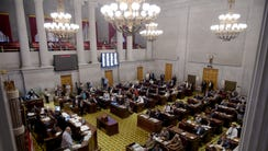 The Tennessee House of Representatives meets in special