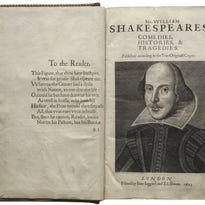 """The Kansas City Public Library's Central Library, 14 W. 10th St., Kansas City, will host """"First Folio! The Book that Gave Us Shakespeare"""" from June 6-28, during regular library hours. It is the only city in Missouri to host the book."""